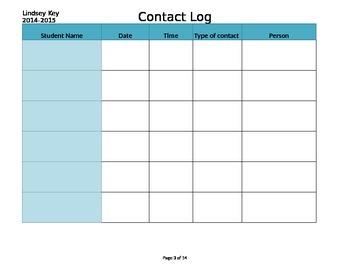 Contact Log with Drop Down Menus