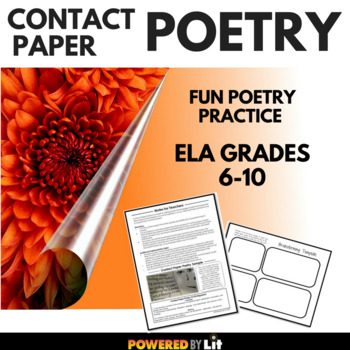 Contact Paper Poetry--Engaging Poetry Activity for ELA Grades 6-10