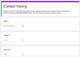 Contact Tracing Forms & Data Collection