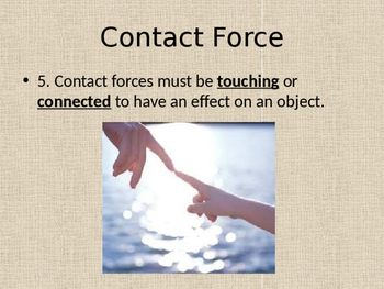 Contact vs. Non-Contact Forces PowerPoint