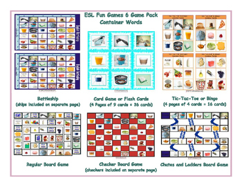 Container Words 6 Board Game Bundle