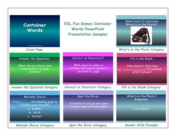 Container Words PowerPoint Presentation
