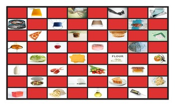 Container Words Spanish Legal Size Photo Checkers Game