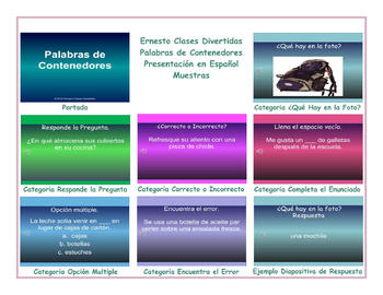 Container Words Spanish PowerPoint Presentation