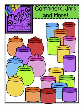 Containers, Jars and More! {Creative Clips Digital Clipart}