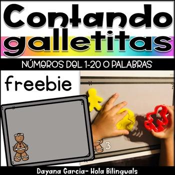 Contando Galletitas- Christmas math center {FREEBIE}