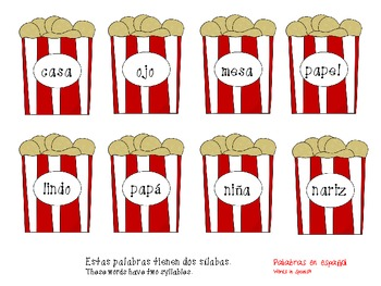Contando Sílabas ~ Counting Syllables
