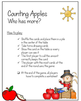 Counting Apples - A Subitizing Game (DUAL Friendly)