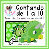 Contando números del 1 al 10 | Temática de dinosaurios | B