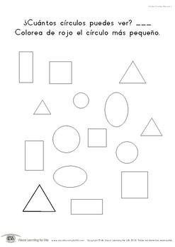 Contar Formas Básicas (Habilidades de Percepción Visual)