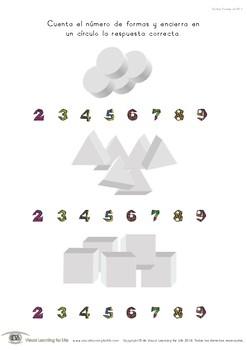 Contar Formas en 3D (Habilidades de Percepción Visual)