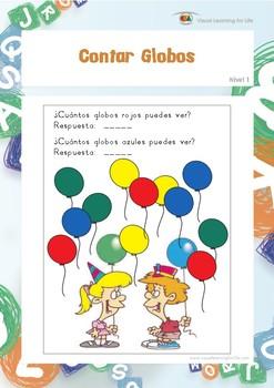 Contar Globos (Habilidades de Percepción Visual)