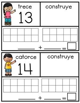 Contar y Contruir Números del 1-20