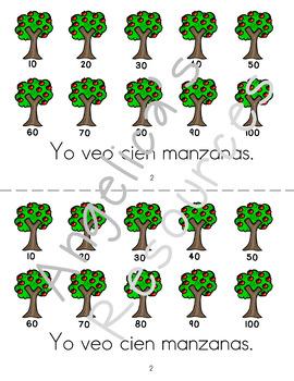 Spanish Numbers : Yo puedo contar hasta 100 - Los Números - Mini Reader