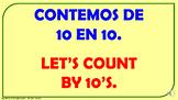 Contemos de 10 en 10 desde 0 hasta 100. / PPT. con audio.