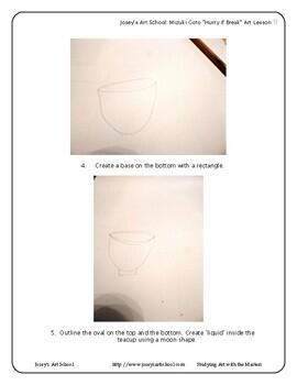 Contemporary Art Lesson Mizuki Goto Grade 1-5 Tea Set Lesson and Project