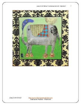 Contemporary Art Lesson Nathaniel Mather K-6 Elephant Painting Bio and Project