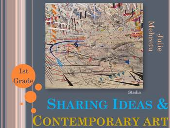 Elementary Art Lesson: Contemporary Art Painting to Share Ideas & Marzano DQ