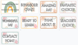 Contemporary Boho Behaviour Peg Chart - Editable Google Slide format