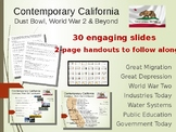 Contemporary California: 30 slides & handout (history, schools, industry & more)
