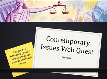 Contemporary Issues WebQuest