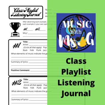 Contemporary Music Listening Journal
