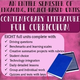 Contemporary Literature Full Semester Curriculum Project-Based