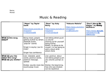 Contemporary Music & Reading!
