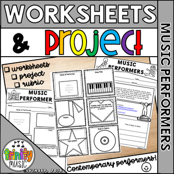 Contemporary Music (aka Pop/Rock) Performers (Worksheets a