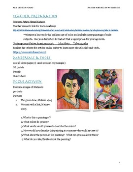 Native American Art & Matisse: Fauvism