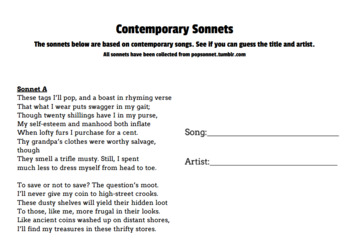Contemporary Sonnets