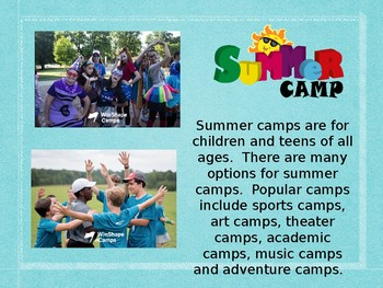 Contemporary Topics for Middle School and High School ESL: Summer Camp
