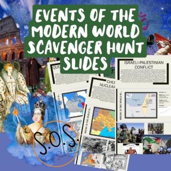 Contemporary World History Scavenger Hunt Slides