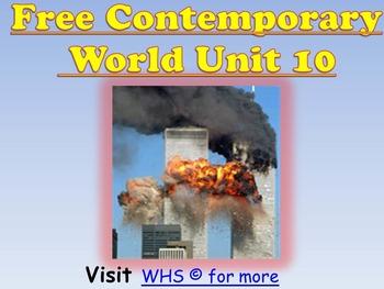 Free (New) Contemporary/ Modern World Mega Unit/PPT