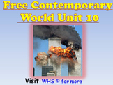 Free (New) Contemporary/ Modern World Mega Unit/PPT