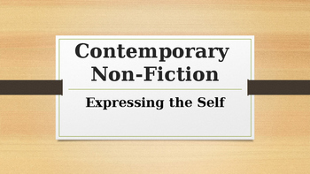 Contemporary Writing - Features of a Diary and/or Blog