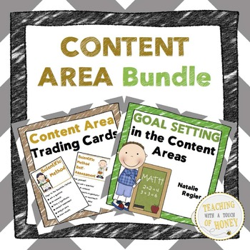 Content Area Bundle: Trading Cards, Assessment, and Goal S