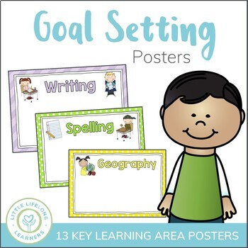 Content Area Goal Setting Posters - Set of 9
