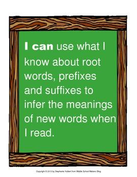 Content Area Roots - Memory Match ELA Center Activity