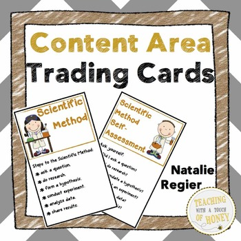 Goal Setting For Students | Content Area Goal Setting | Trading Cards