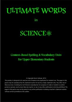 Content-Based Spelling & Vocabulary Unit Bundle – Science