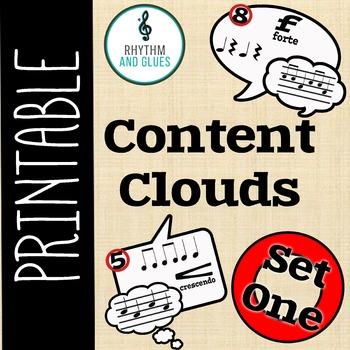 Content Clouds - Speech Bubbles, Set 1 (Rhythm and Glues)