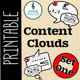 Content Clouds - Speech Bubbles, Set 1 (Rhythm and Glues)