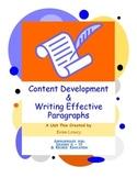 Content Development & Writing Effective Paragraphs - Complete Unit