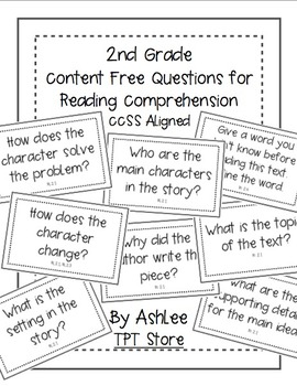 Content Free CCSS Aligned Questioning Cards