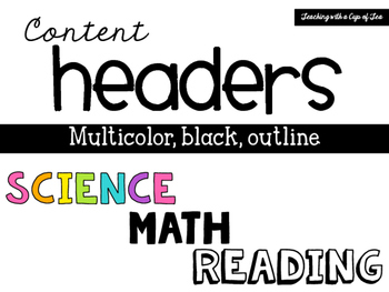 Content Letter Headers