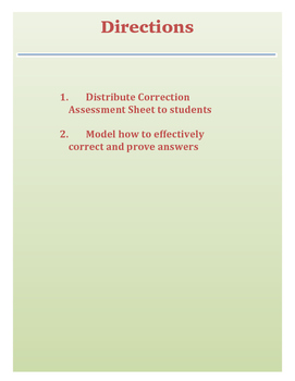 Content Mastery Assessment Correction Worksheet