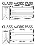 Content Mastery Class Work Pass