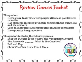 Content Review and Test Preparation Games
