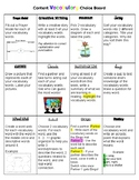 Content Vocabulary Choice Board